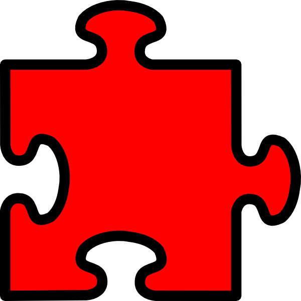 Number 4 clipart number puzzle. Piece clip art at