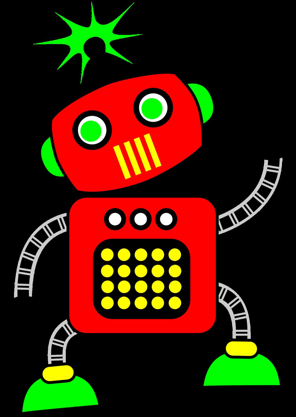 Classroom treasures robot. Technology clipart cute