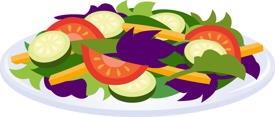 Salad clip art free. Dishes clipart steamed vegetable