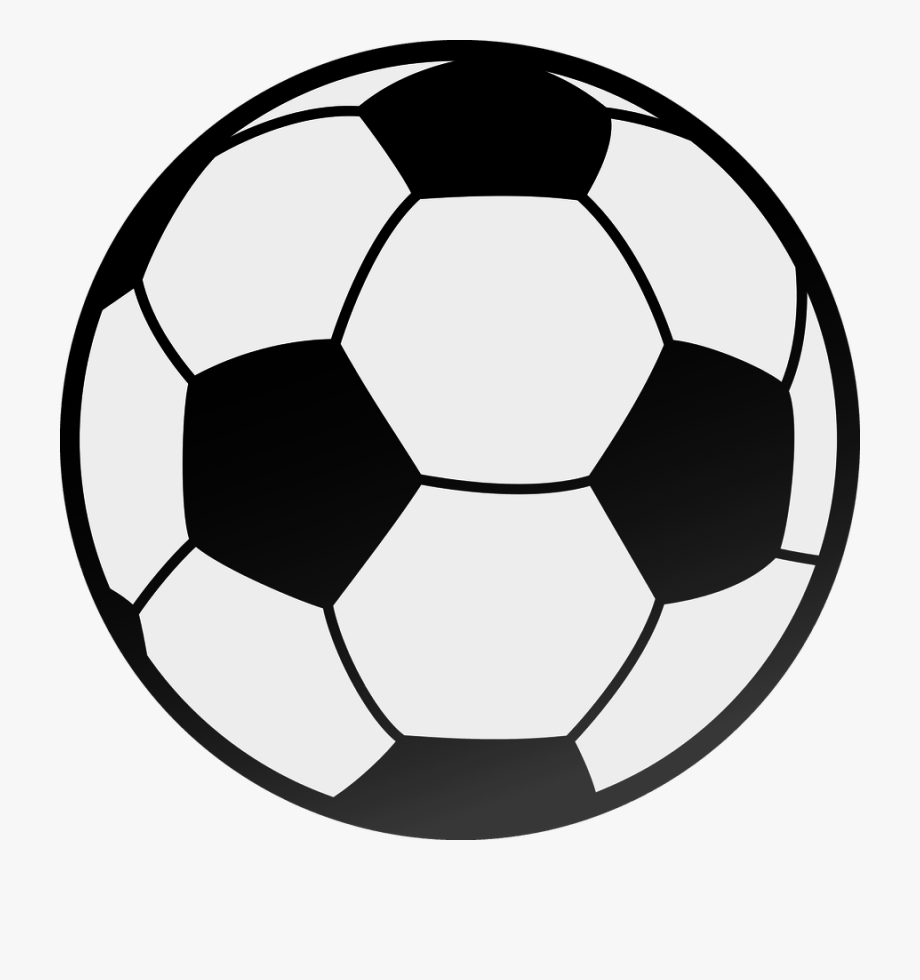 Football clipart vector. Black and white image