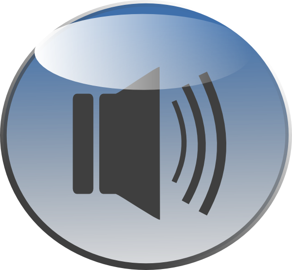 Dot clipart speaker. Audio glossy icon opaque