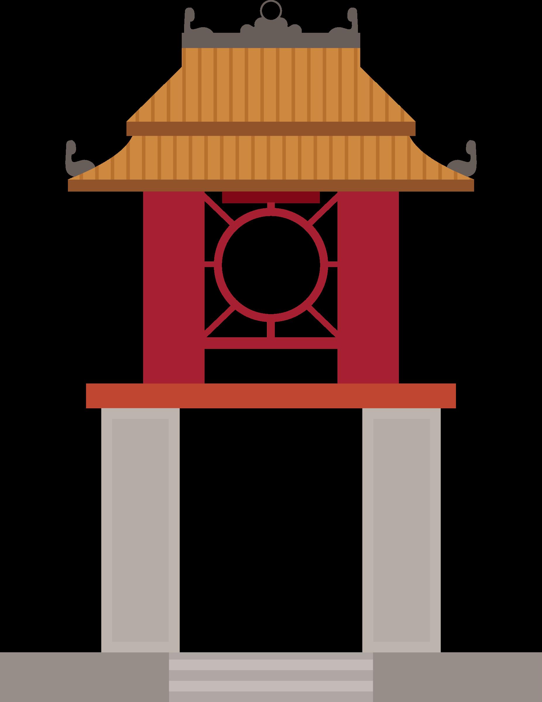 Khue van pavilion big. Tower clipart present
