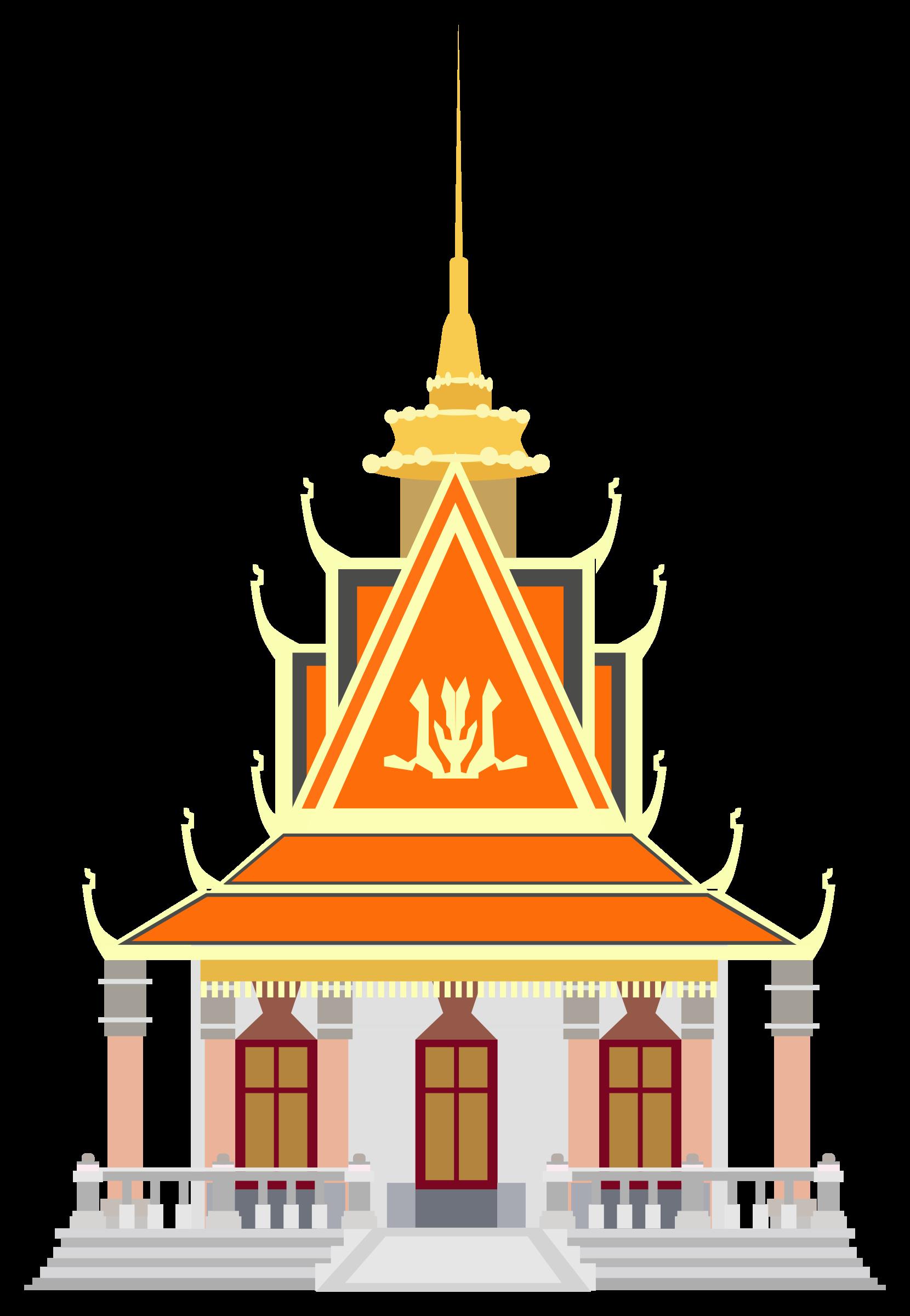 Silver pagoda big image. Palace clipart phnom penh png