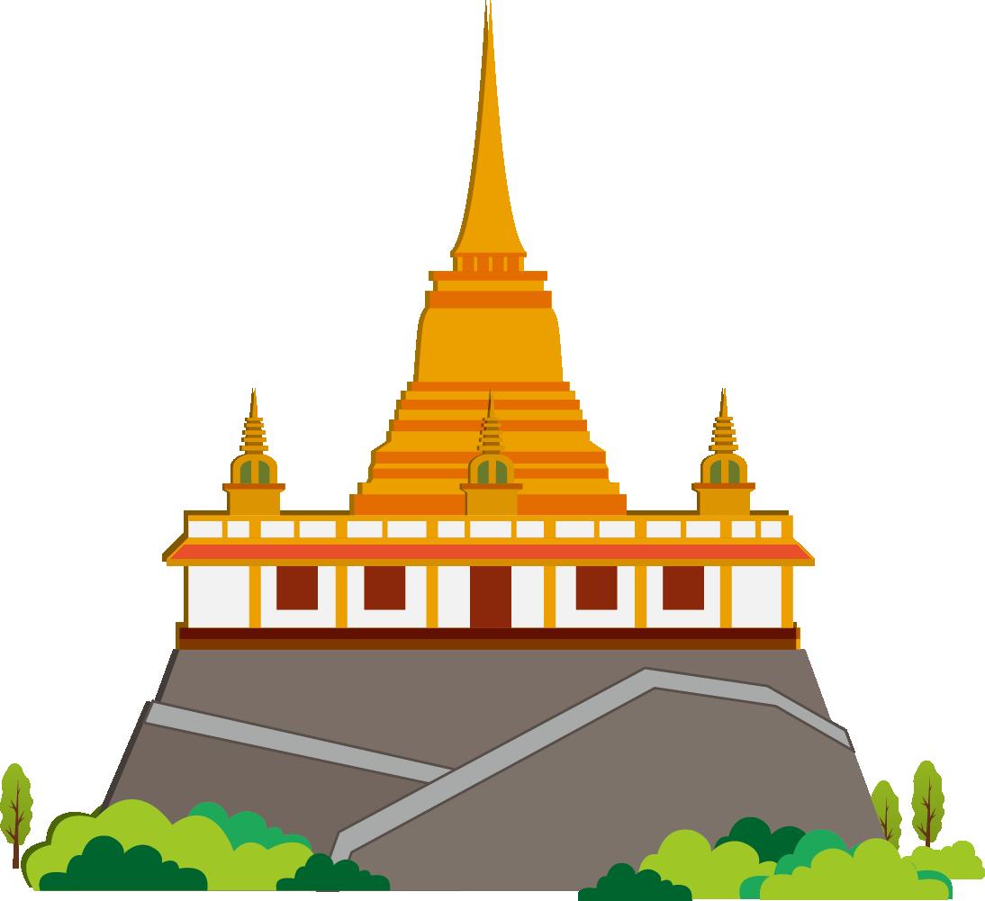 Palace clipart transparent. Thailand clip art golden