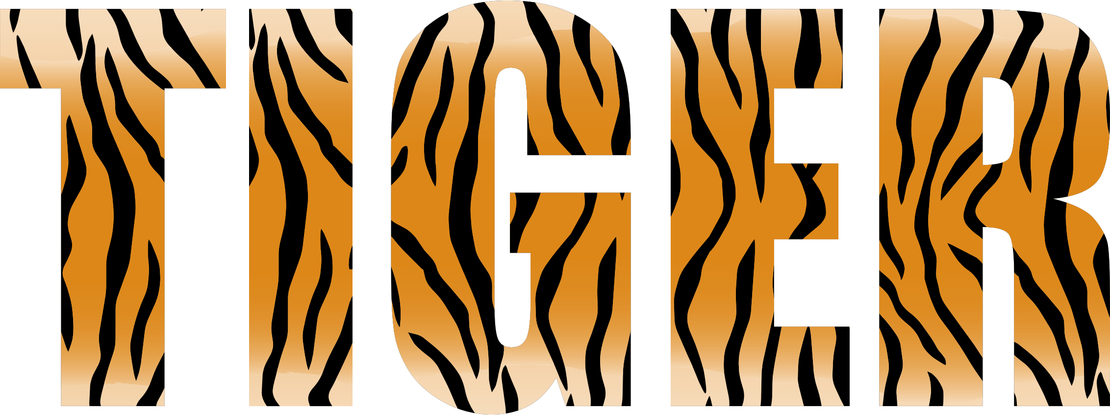 Typography big image png. Clipart tiger abstract