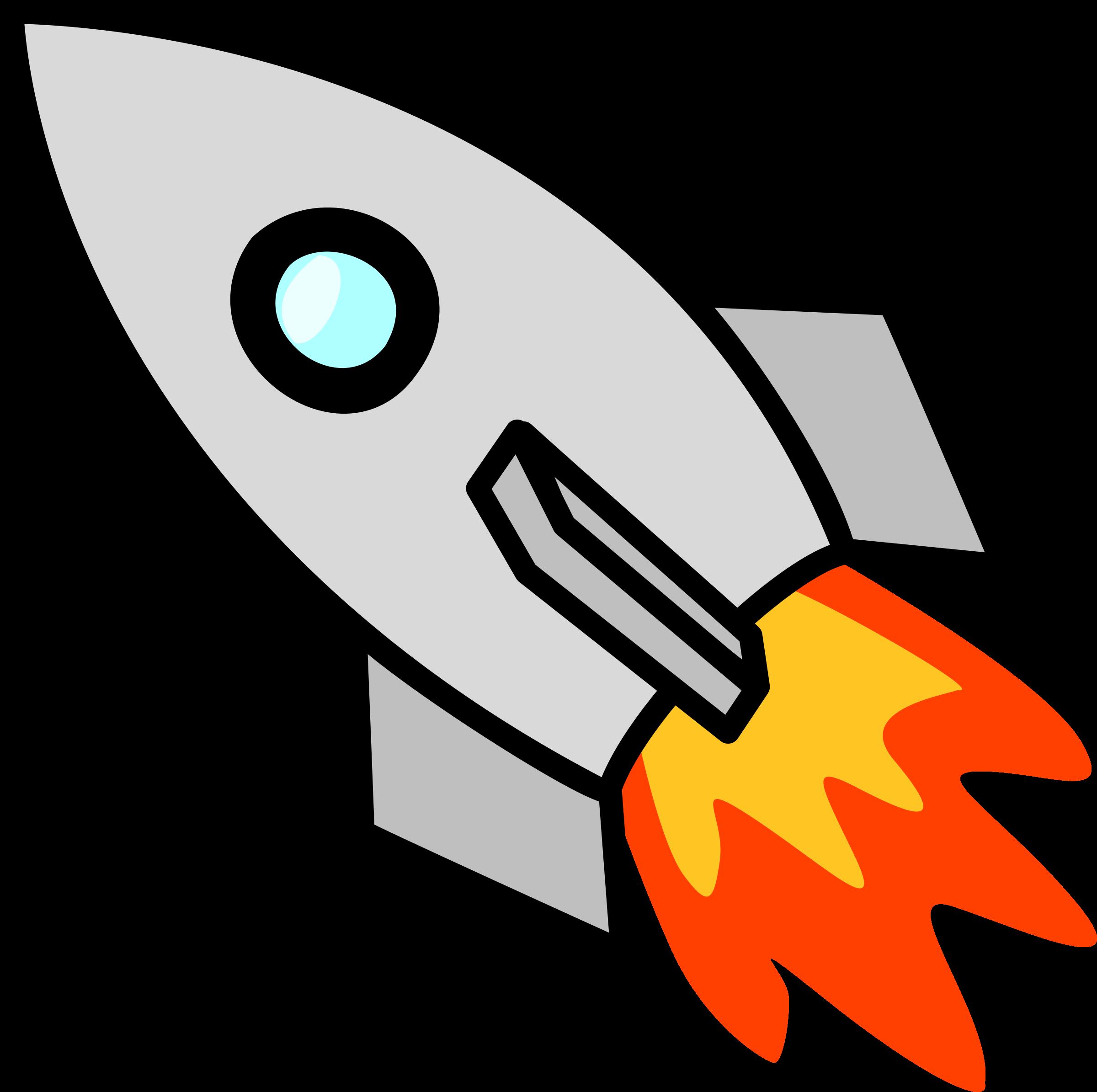 Toy rocket big image. Spaceship clipart easy cartoon