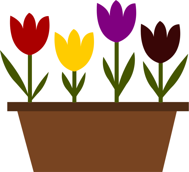 Clipart images tulip. Potted tulips vectorized medium