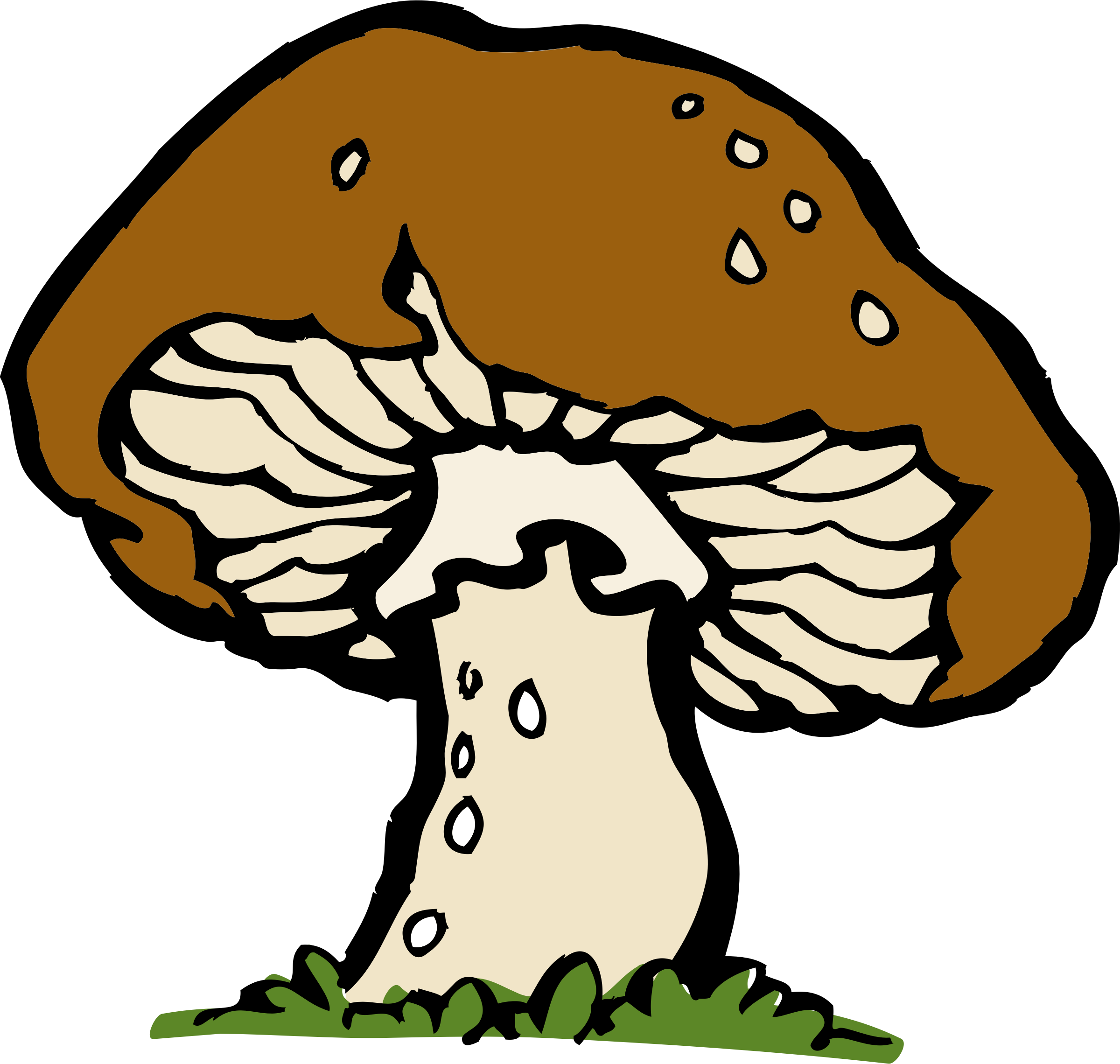 Bacteria clipart decomposer. Worm colorful mushroom free
