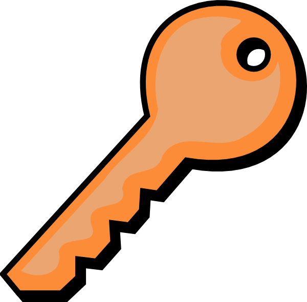 Orange clip art at. Clipart key