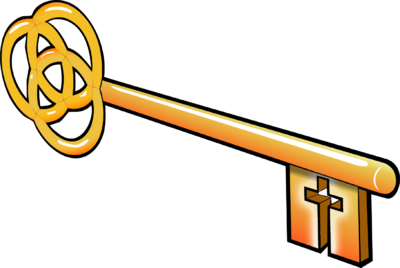 Image with cross christart. Clipart key