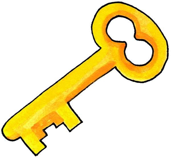 Key clip art free. Keys clipart pretty