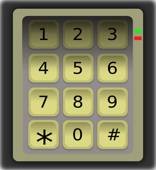 Numeric keypad clavier clip. Number 6 clipart numerical number