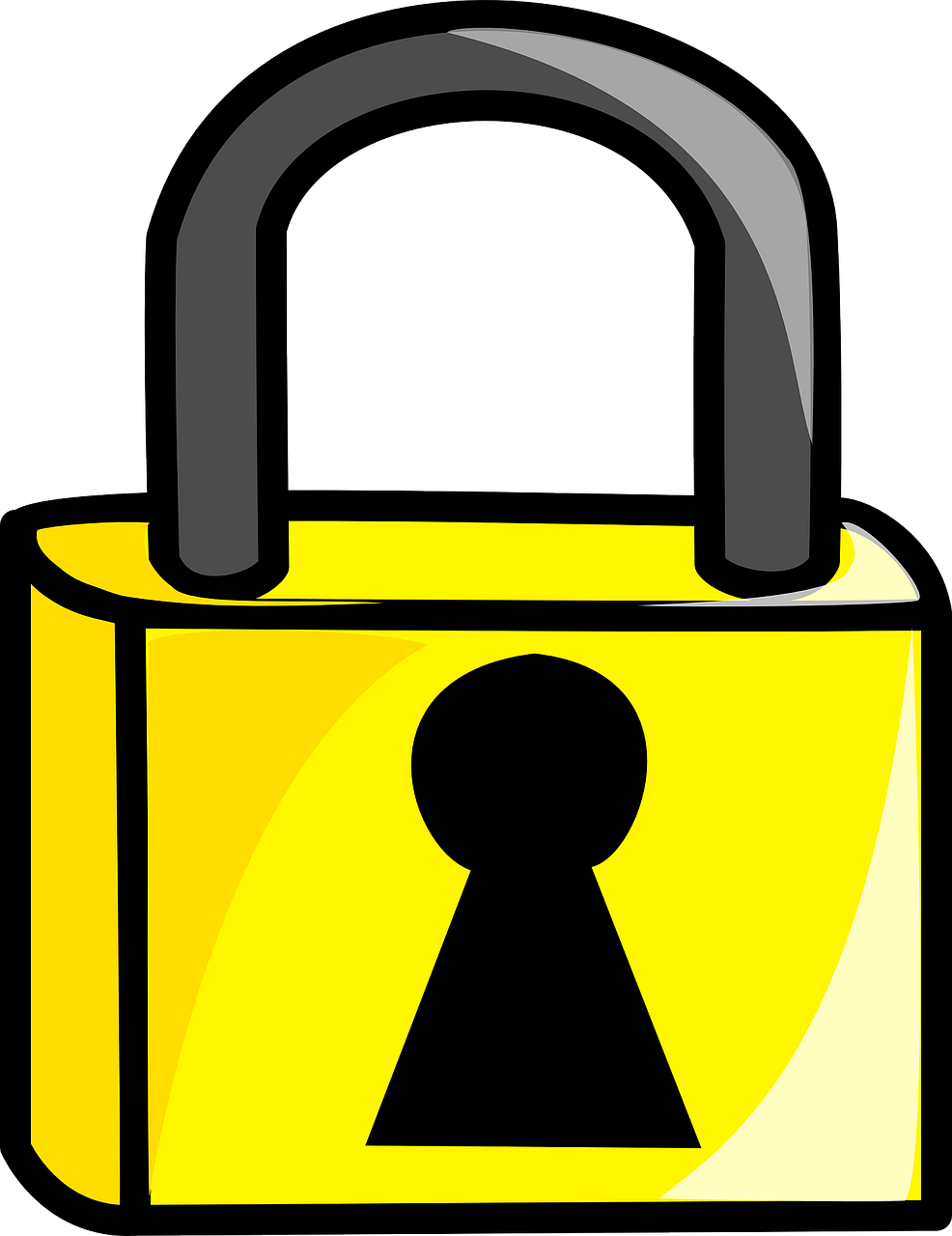 Key clipart yellow. Computer can be made