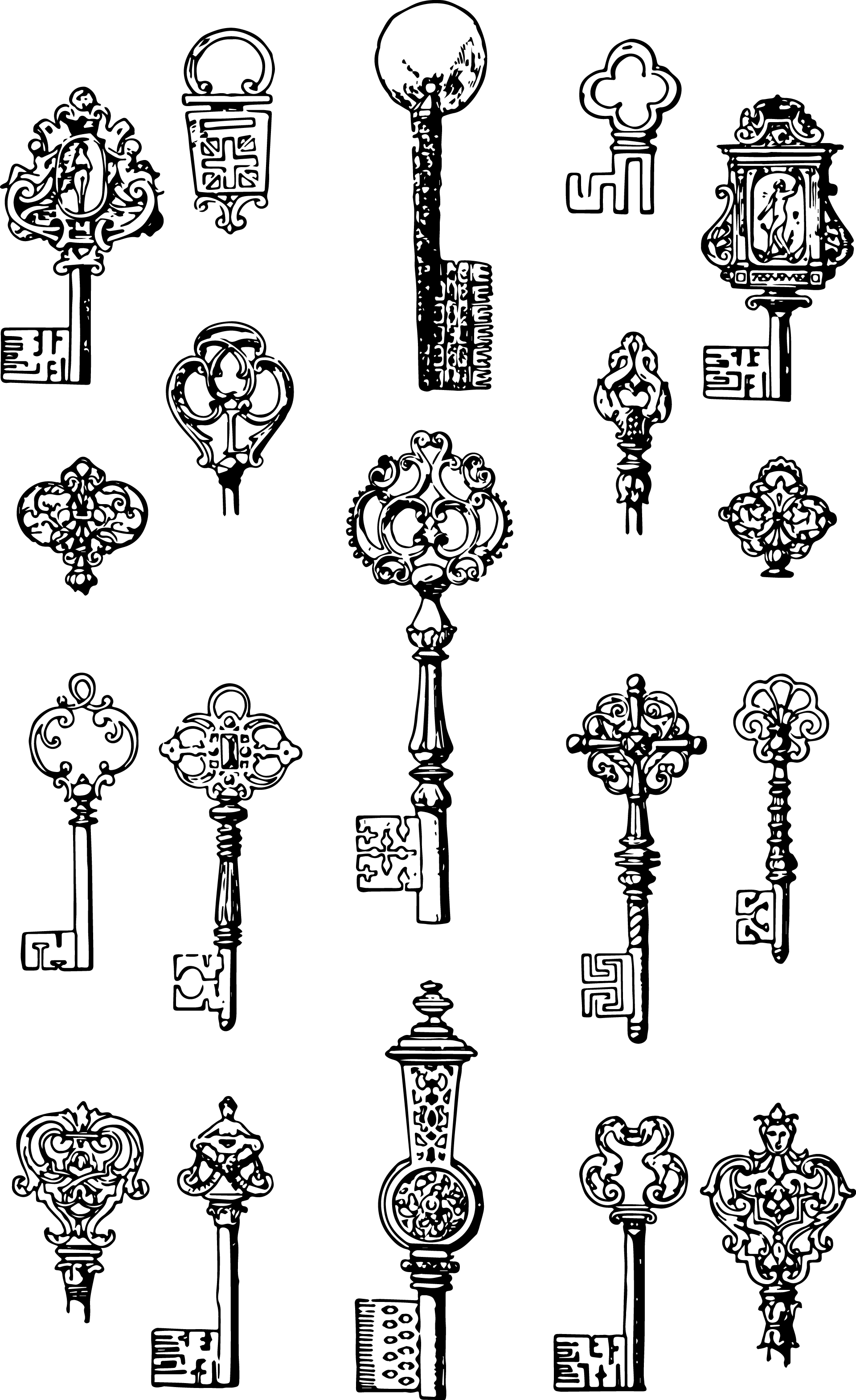 Vgosn vintage keys clip. Mall clipart interior vector