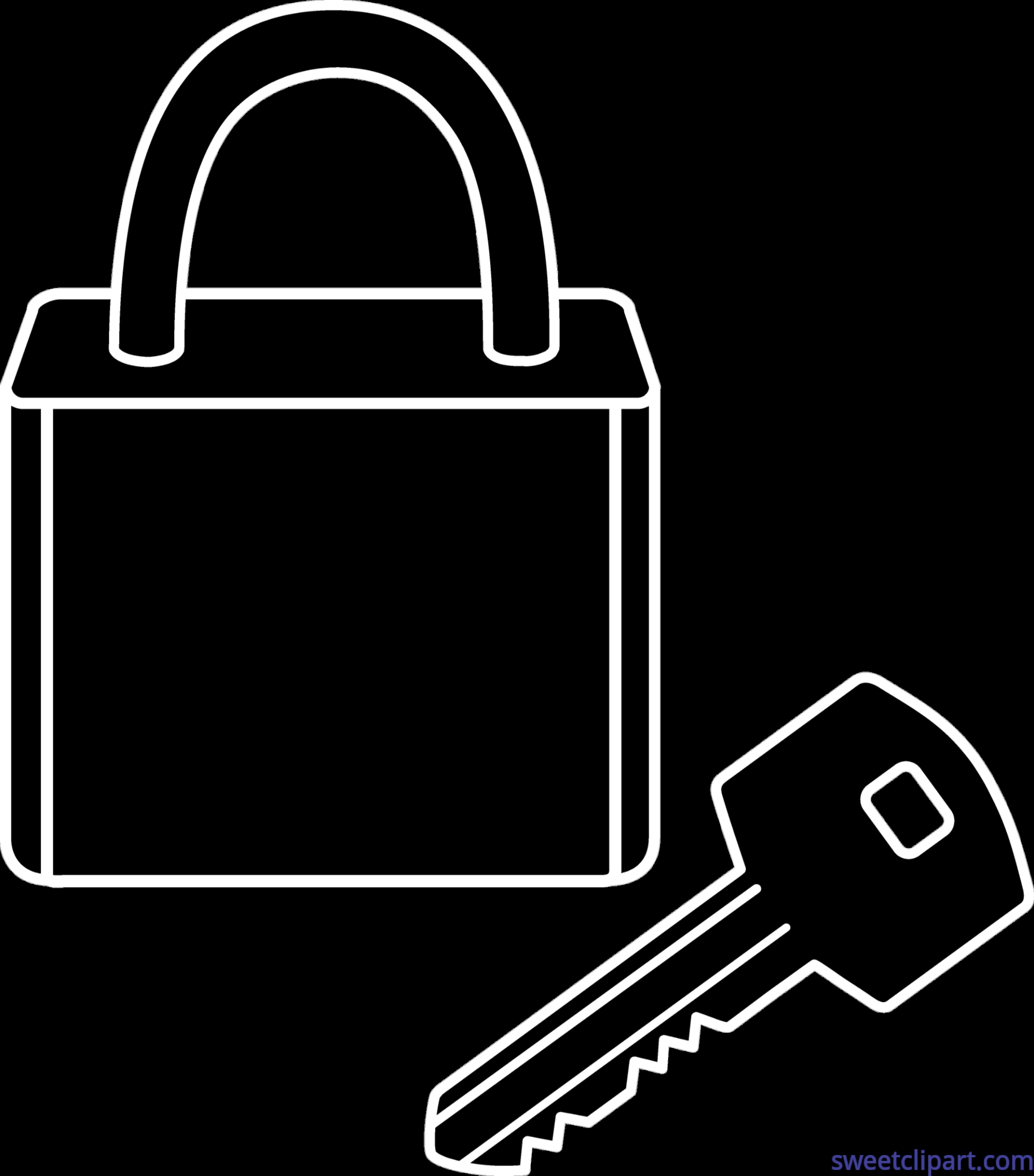 Lock key clip art. Keys clipart silhouette