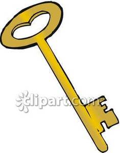 Clipart key brass. Old fashioned royalty free