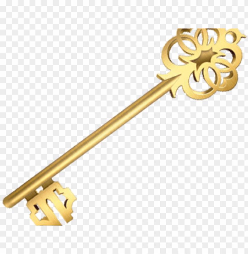 Golden png image with. Clipart key brass