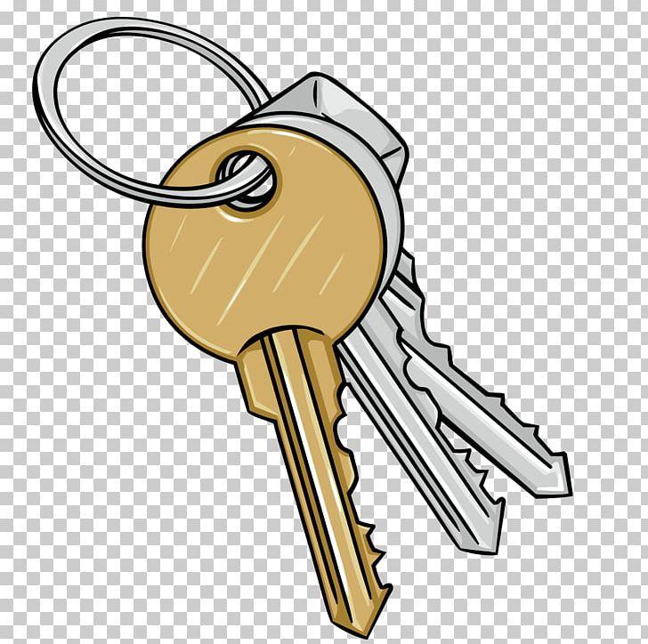 Keys clipart bunch. Cartoon key illustration png