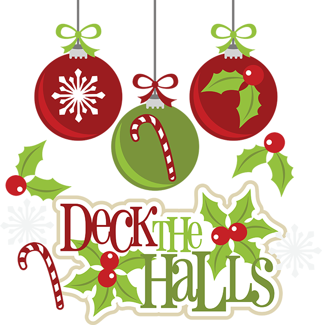 Holidays clipart thing. Deck the halls cuttable