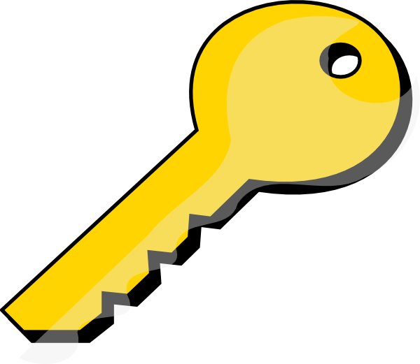 Free keys key the. Lock clipart golden