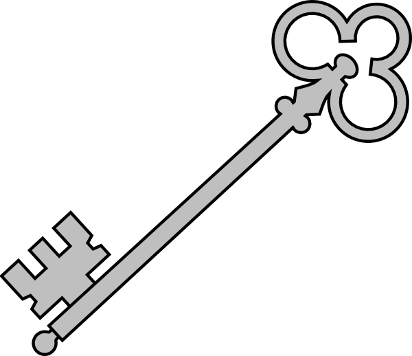 Black olde key clip. Keys clipart purple