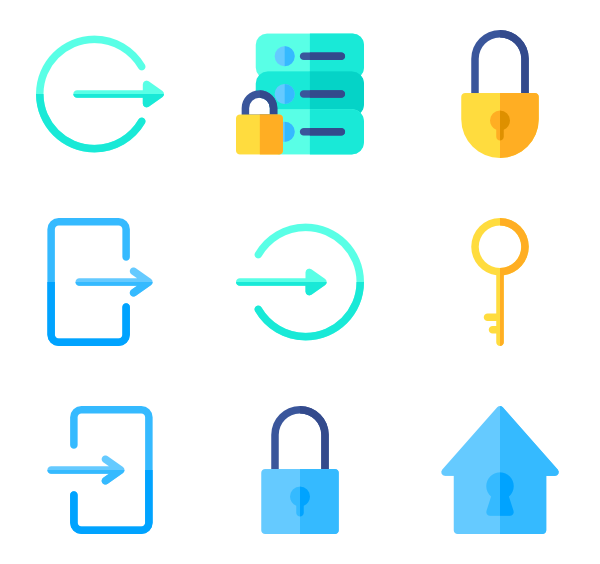 Lock clipart lock and key.  icon packs vector