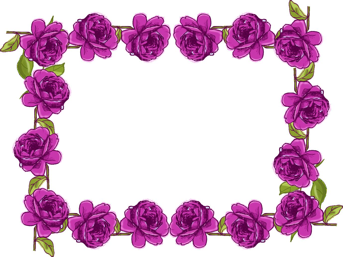 Purple clipart boarder. Rose border design panda