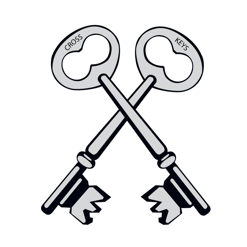 Key clipart crossed key. Walpole cross keys primary