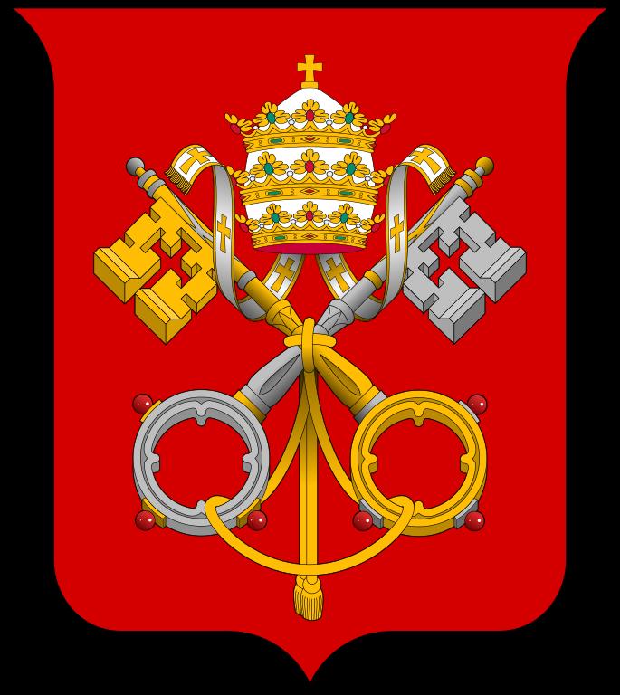 Key clipart crossed key. The vatican city ten