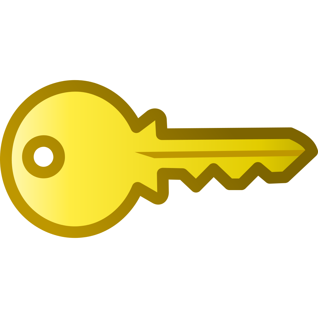 File golden icon svg. Key clipart yellow