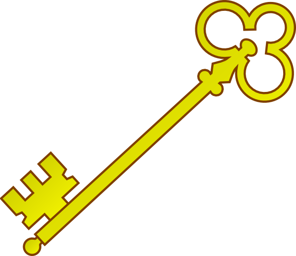 Gold olde clip art. Key clipart small key
