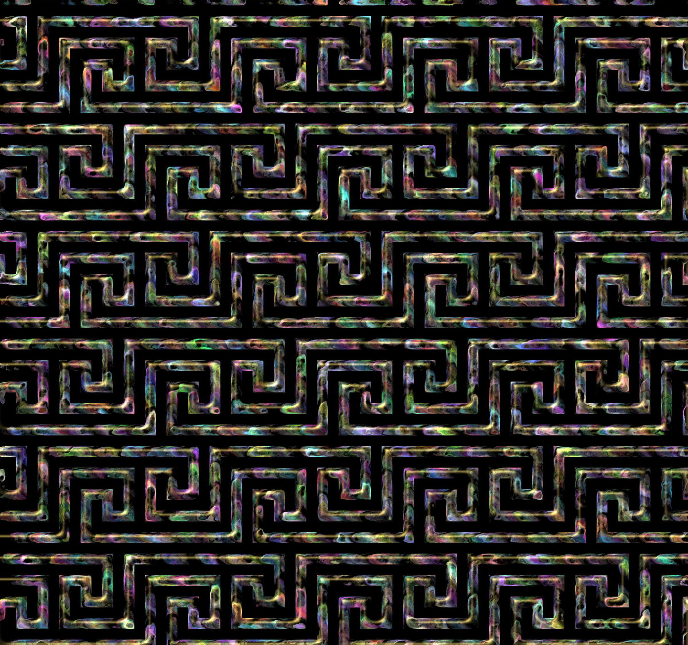 Greek pattern big image. Clipart key gray