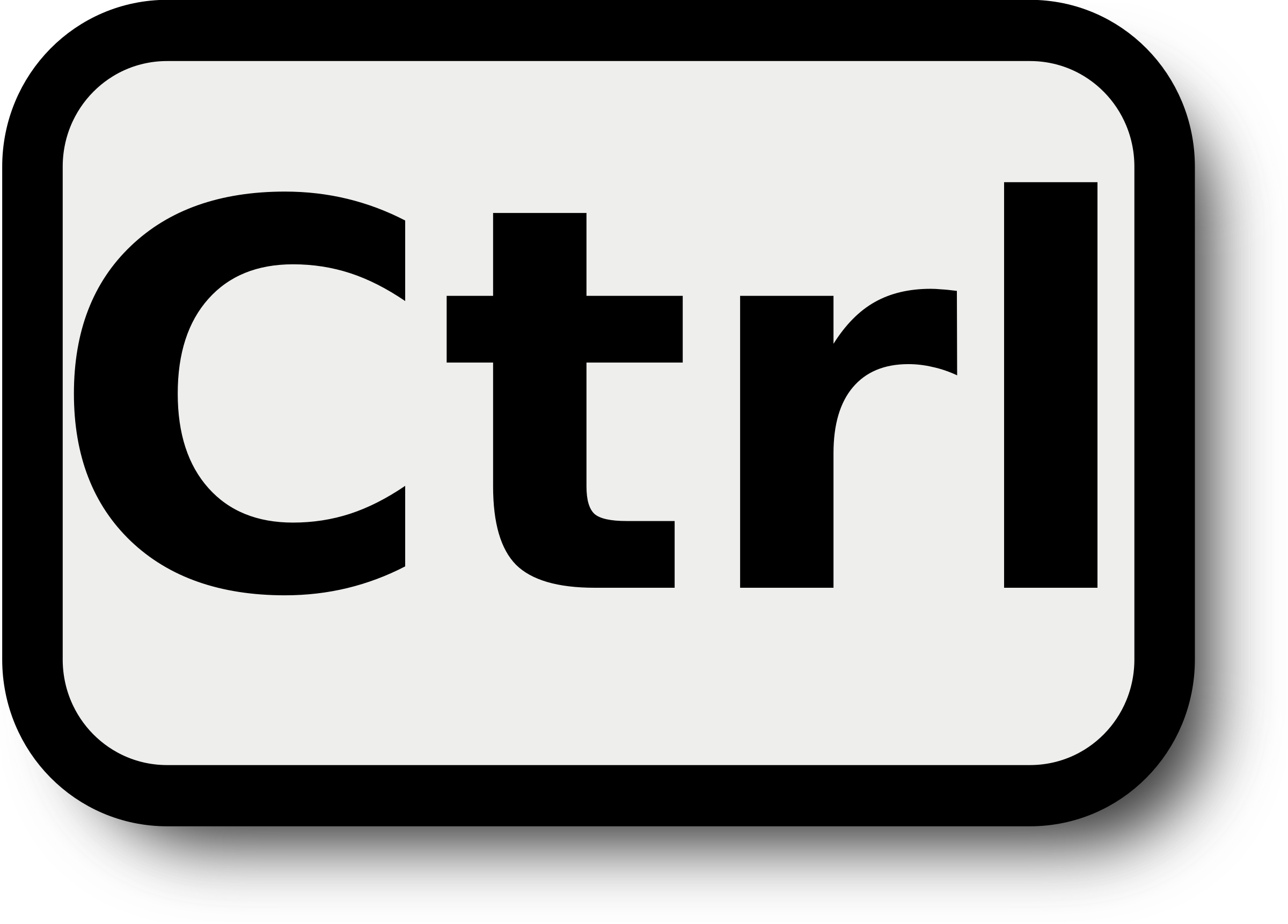 Ctrl key icons png. Keys clipart black and white