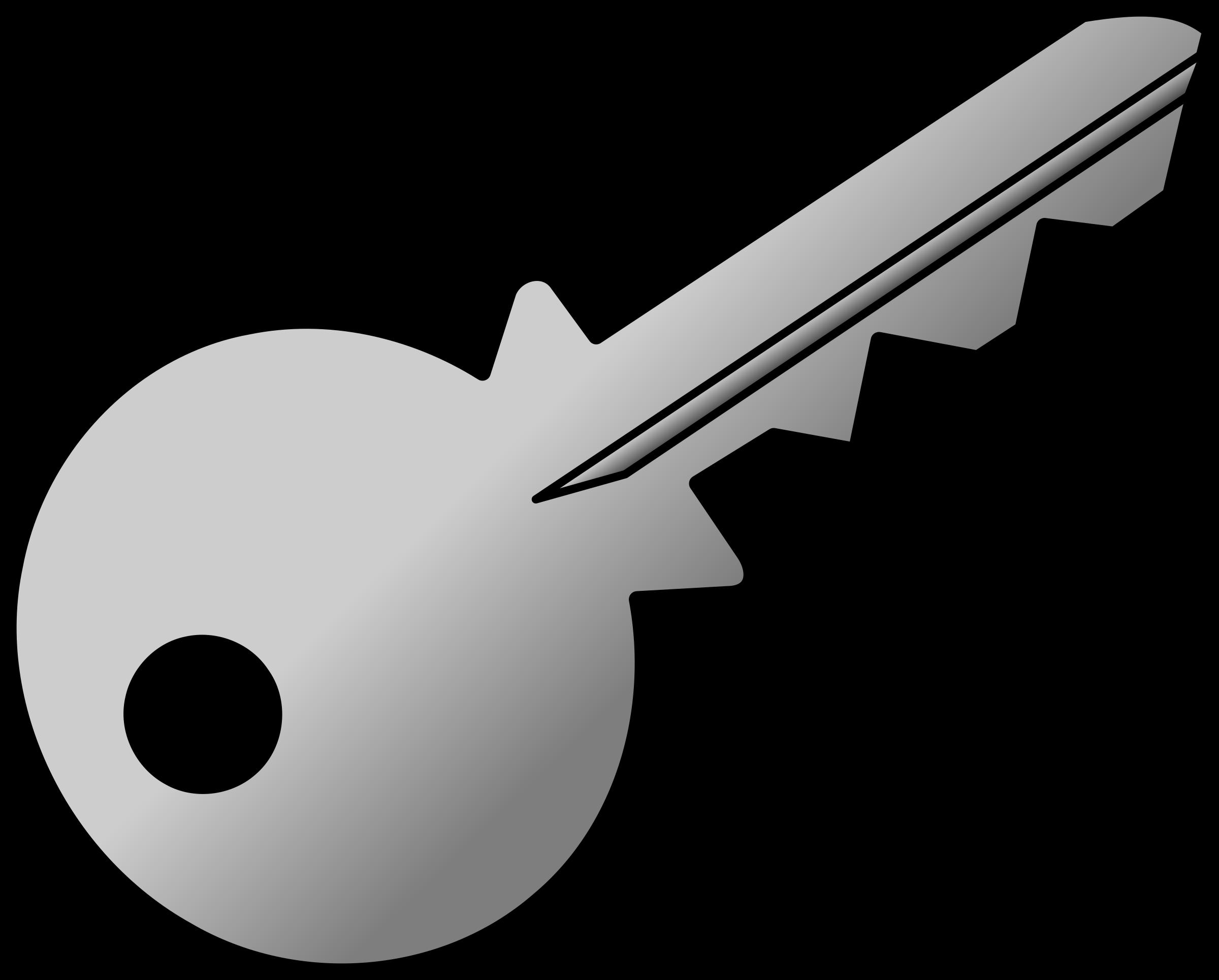 Grey shaded big image. Keys clipart key detail