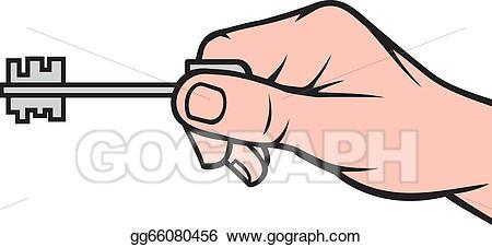 Eps vector key stock. Keys clipart hand holding
