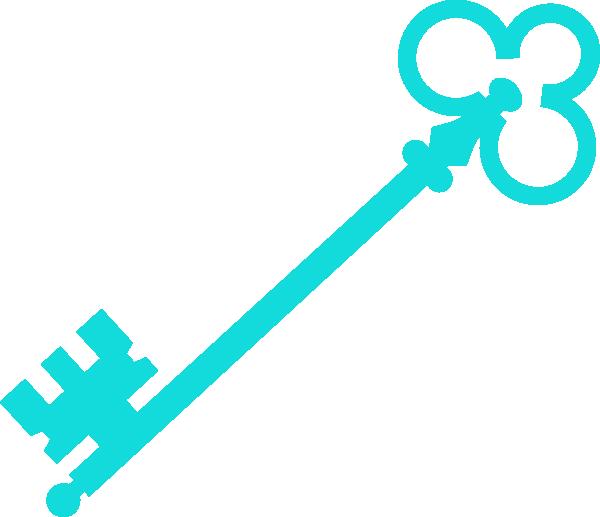 Aqua clip art at. Clipart key house key