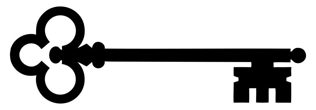 Keys clipart black and white. File skeleton key silhouette