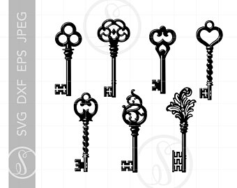 Skeleton key etsy . Keys clipart iron