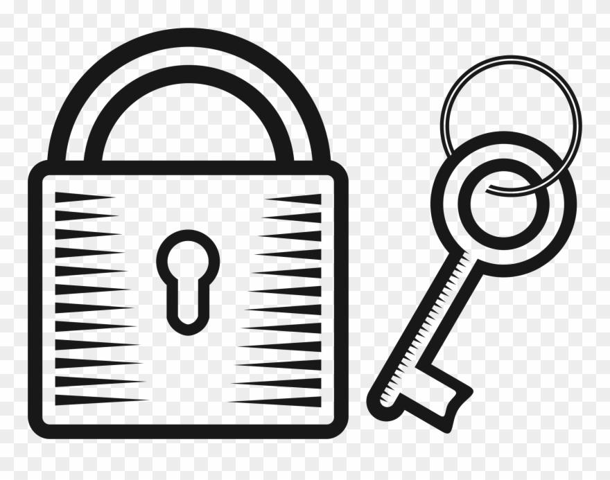 Lock clipart big. Image key and drawing