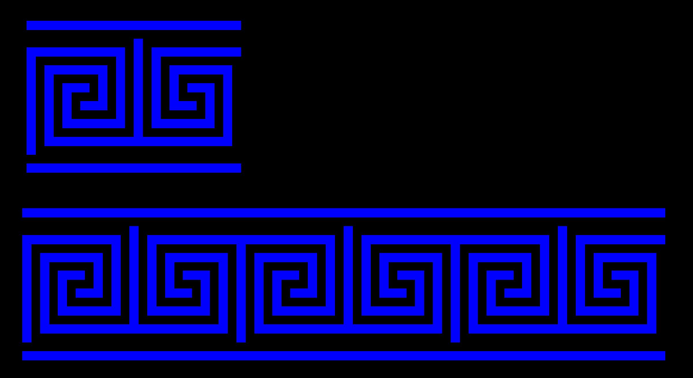 Clipart key key shape. Greek t turns meander