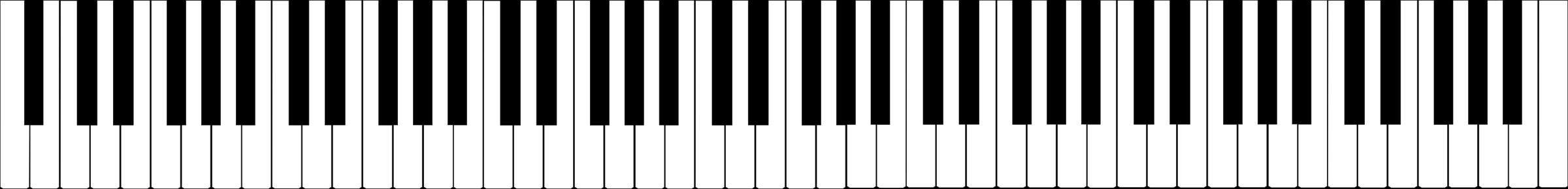 Standard key keyboard big. Piano clipart digital piano