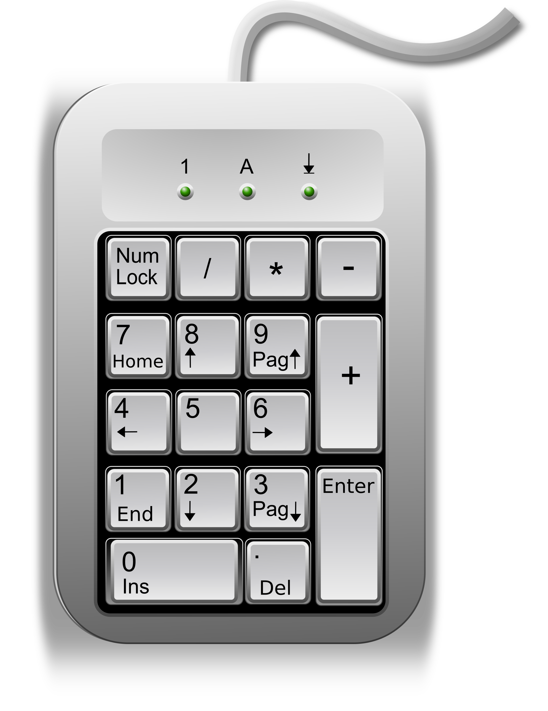 External key by electro. Keyboard clipart linux