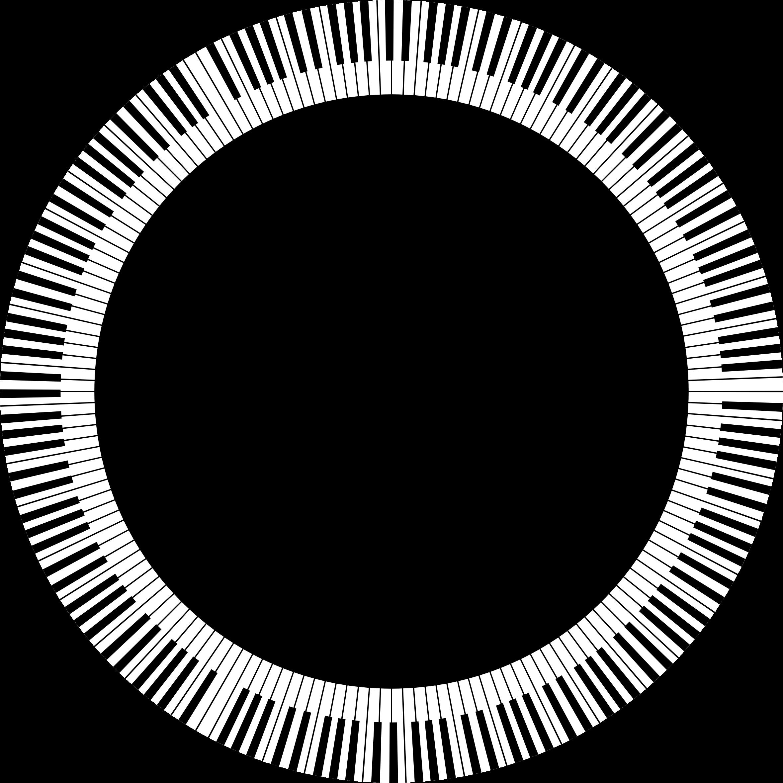 Piano clipart abstract. Keys circle large big