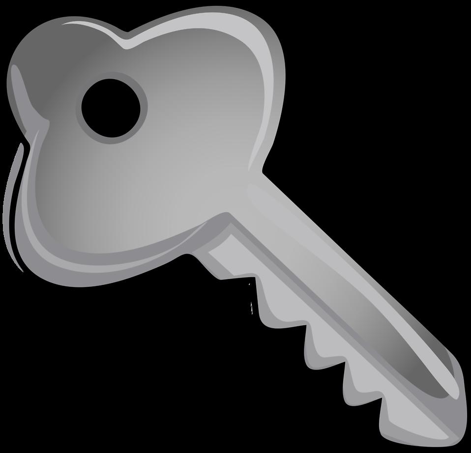 Keys clipart crossed key. Lock and black white