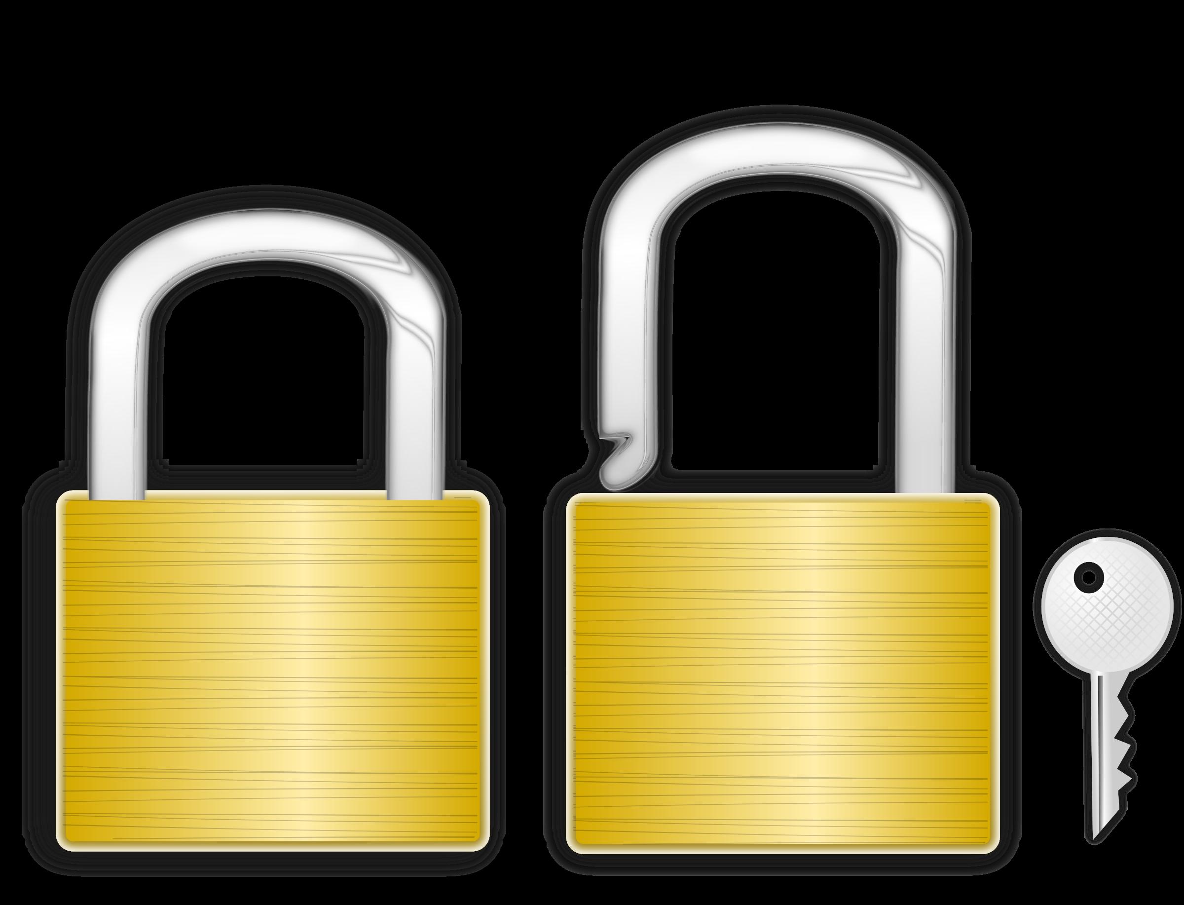 Lock clipart lock and key. Big image png