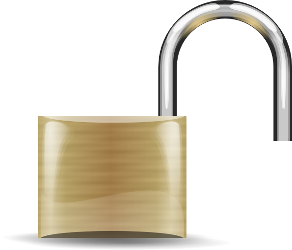 Lock open clip art. Padlock clipart unlocked padlock