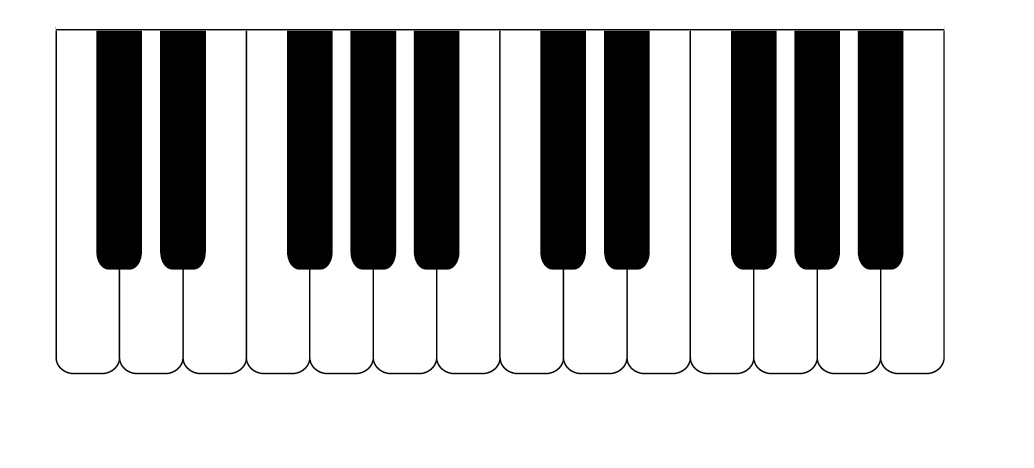 Piano clipart full keyboard. Free keys cliparts download