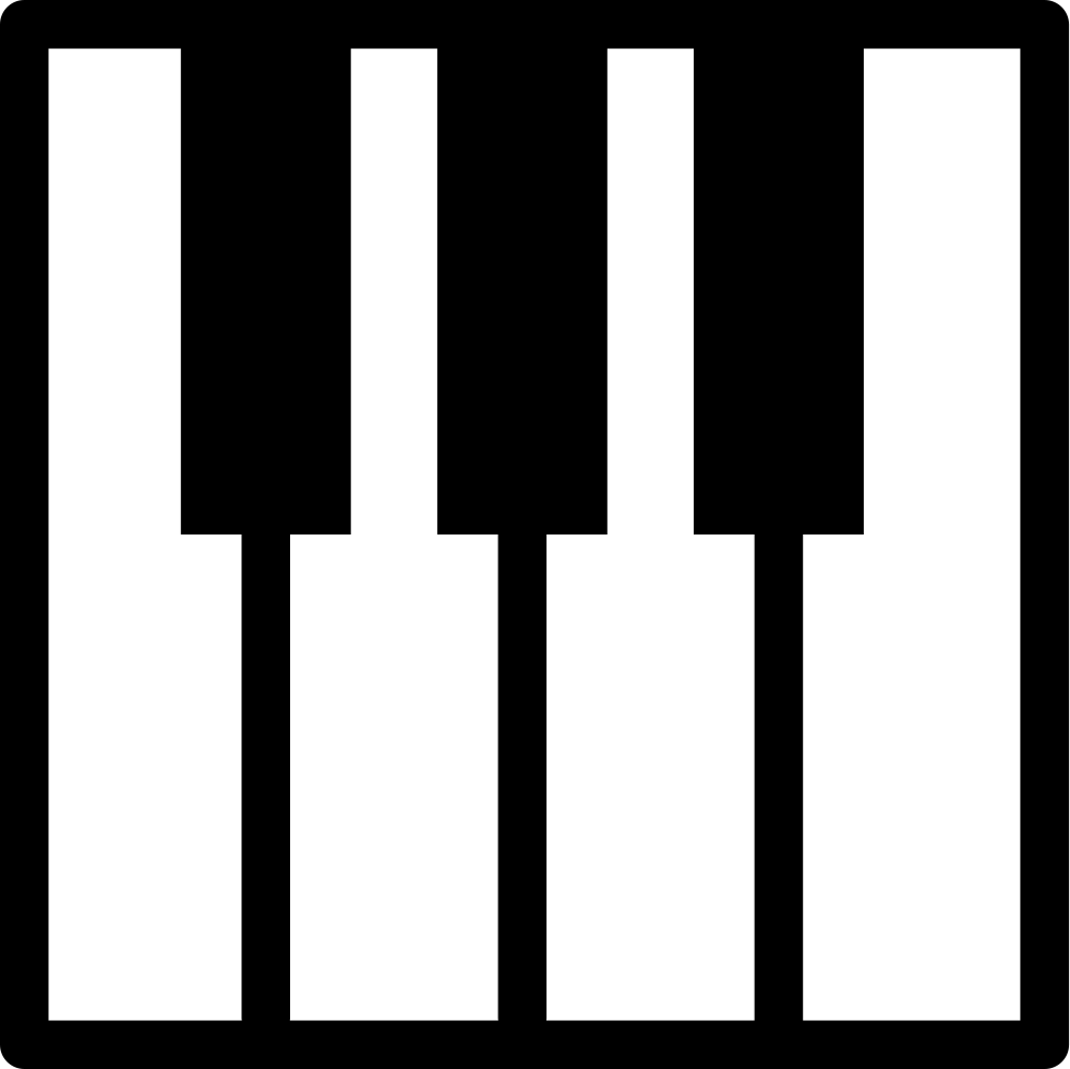 Keyboard silhouette at getdrawings. Piano clipart portable