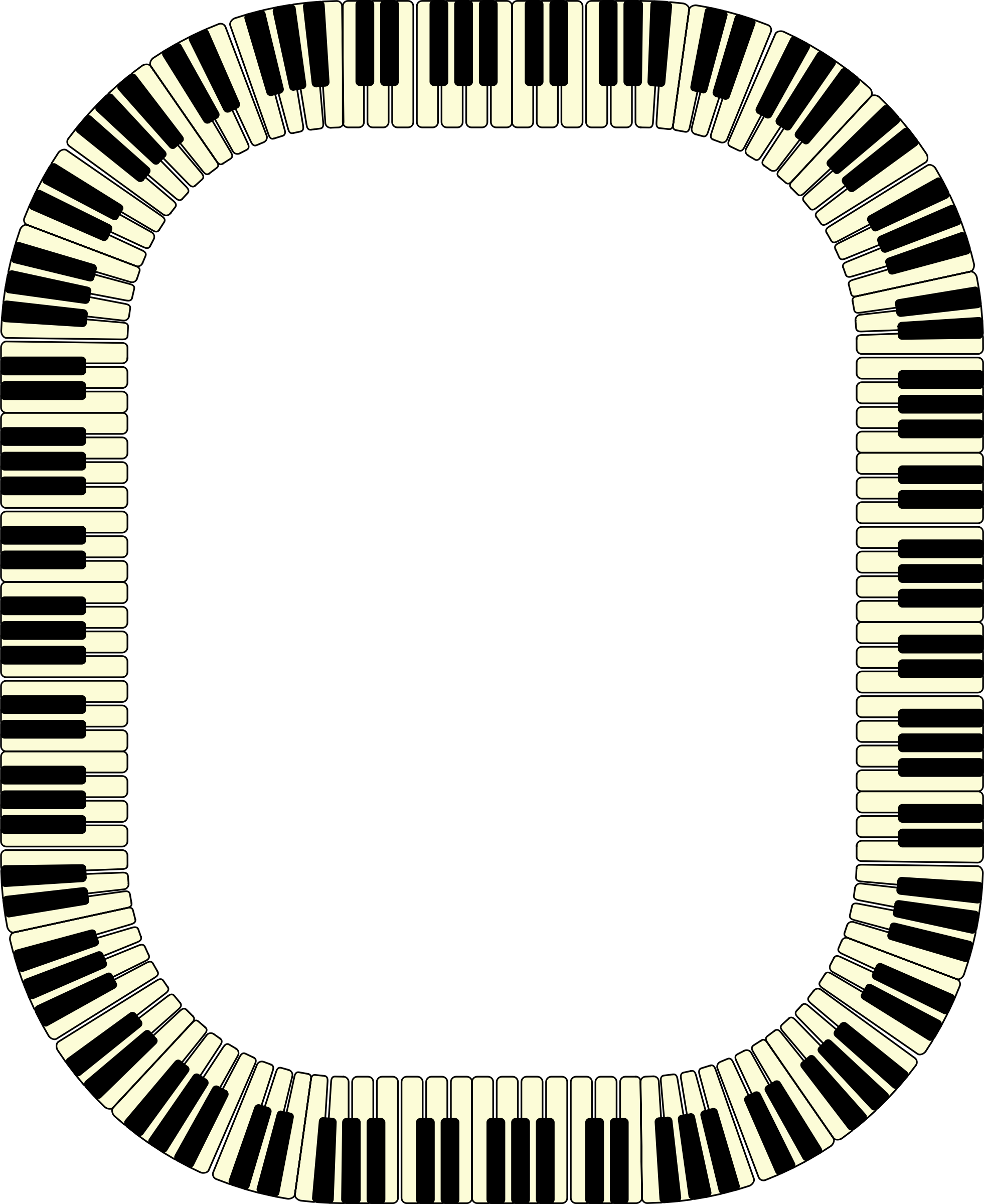 Clipart piano frame. Keys rectangle big image