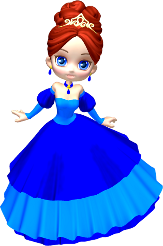 In blue poser png. Clipart key princess